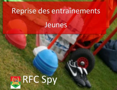 Reprise des entraînements football en jeunes au RFC Spy, saison 2018-2019