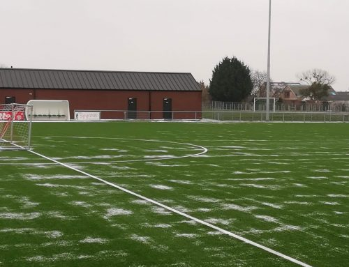 Le dégel sur le synthétique du RFC Spy. Les rencontres amicales confirmées pourront se jouer