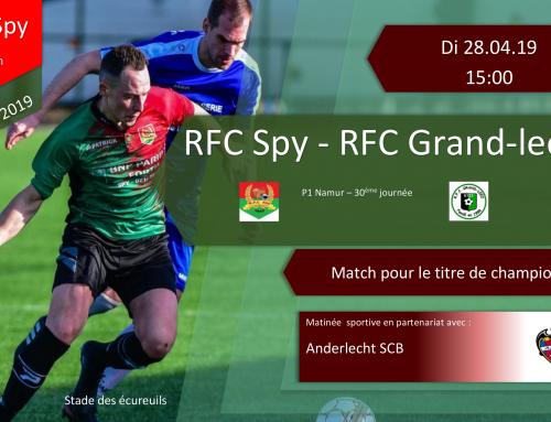 Démonstration Coerver, matinée sportive le dimanche 28/04/19 : Une grosse semaine au RFC Spy