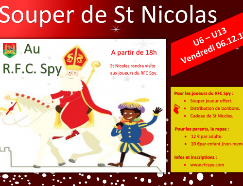 Menu du souper St Nicolas 2019